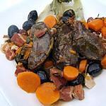 recette Daude de joues de porc à la provençale