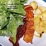 recette Pavés de saumon au lard fumé et curcuma