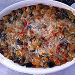 recette Gratin de crozets aux légumes du soleil et parmesan