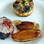 recette Ballottine de filet mignon enrobée de tapenade et farci au jambon speck et tomates confites