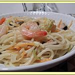 recette Spaghetti et moules sauce safran