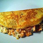 recette Crêpes fourrées crevettes et saumon (compatible dukan)
