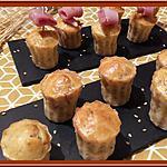 recette Minis Cannelés au Yaourt, Bacon et Sésame grillé