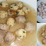 recette DUO DE MINI BOULETTES AU BOUILLON DE POULE
