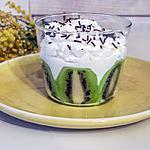 recette Verrine de kiwis au fromage frais et chantilly