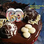 recette Gâteau Framboise/ chocolat et son Miroir au chocolat