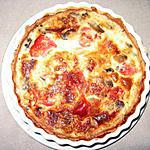 recette Quiche aux champignons et à la tomate