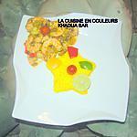 recette Poêlée de crevette et de légumes/riz safrané