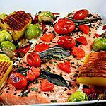 recette Filet de Saumon au Four, Légumes sautés