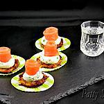 recette Saumon sur Mini Galettes de Pommes de Terre