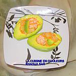 recette Avocats aux crevettes et à l'ananas