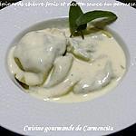 recette Raviole aux épinards chèvre frais ricotta et pignons sauce au parmesan