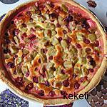 recette Tarte aux prunes et rhubarbe