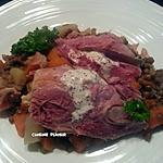 recette Jambonneau aux lentilles, carotte et navet