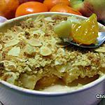 recette Crumble pomme-clémentines et amandes