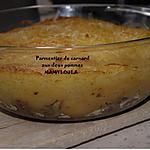 recette Parmentier de canard aux deux pommes.