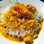 recette Curry de colin au lait de coco