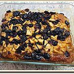 recette Pudding chômeur, sirop d'érable, pomme, canneberges séchées