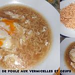 recette BOUILLON DE POULE AUX VERMICELLES MAISON ET OEUFS