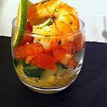 recette Verrines de lentilles corail et crevettes à l'ail