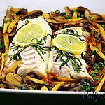 recette Dos de Cabillaud au Four, Légumes sautés