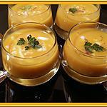 recette Soupe de potimarron à la chair de crabe
