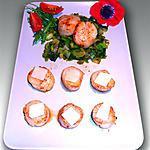 recette Noix de Saint Jacques au parmesan sur son lit de poireaux et choux