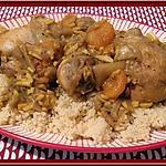 recette Tajine de poulet aux amandes et abricots