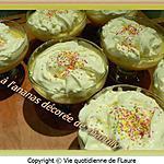 recette Crème à l'ananas décorée de chantilly