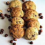 recette Cookies Extra chocolat blanc, chocolat noir et noisettes