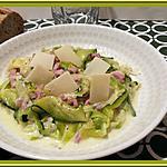 recette Courgettes à la Carbonara