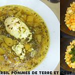 recette SOUPE AU PERSIL POMMES DE TERRE SAFRAN ET OEUFS