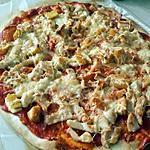 recette Pizza au poulet et au cordon bleu