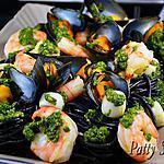 recette Pâtes à l'Encre de Seiche, Coquillages et Crustacés