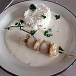 recette Brochettes de Saint Jacques sauce aux échalotes et riz basmati