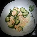 recette Mijoté de crevettes aux courgettes