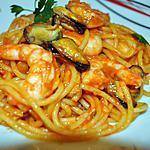 recette Spaghetti  Crevettes Moules