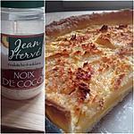 recette Tarte aux pommes et coco