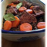 recette Bœuf aux lentilles carottes