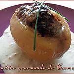 recette Pommes de terre farcies au bleu d'Auvergne