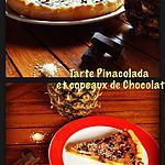 recette Tarte Piñacolada et copeaux de Chocolat