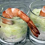 recette Verrines Avocat-Thon-Crevettes