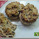 recette Champignons farcis au jambon, poivron et olives