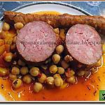 recette Saucisses Morteau et Txistorra aux pois chiches