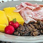 recette Assiette de polenta, cèpes et chiffonnade de jambon