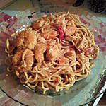 recette Curry de crevettes au nouilles chinoises