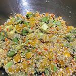 recette salade rapide  de quico à l' avocat et agrumes