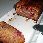 recette Cake aux framboises et chocolat blanc