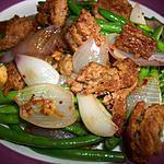 recette Sautés de Haricots Verts & Steak Hamburger
