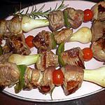 recette Brochettes de gigot au romarin